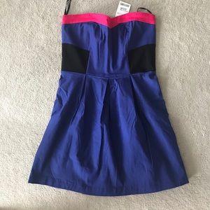 Purple/blue strapless summer dress NWT